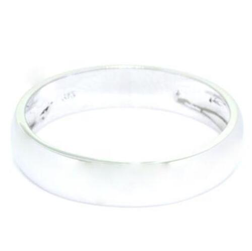Wedding Band 9K 9ct 375 Solid White Gold Ring 5mm Wide