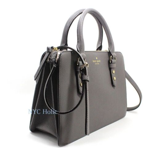 New Kate Spade New York Lise Mulberry Street Satchel Crossbody Hare Grey NWT