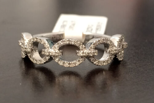 Infinity Bypass Link Design White Gold Vintage Diamonds Anniversary Wedding Band