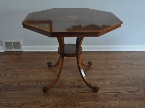 Restall Brown and Clennell Burr Walnut Octagonal Tea Table