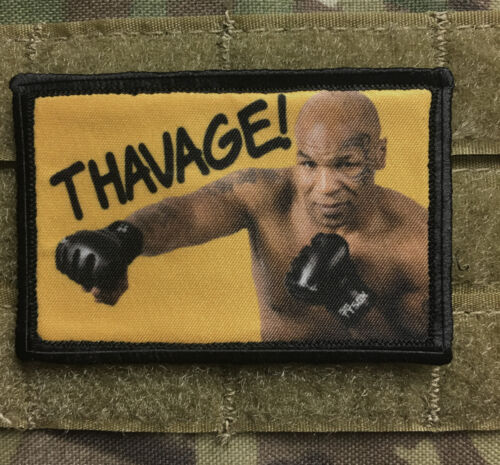 Mike Tyson THAVAGE Morale Patch Funny Tactical Military USA flag Army - 48824