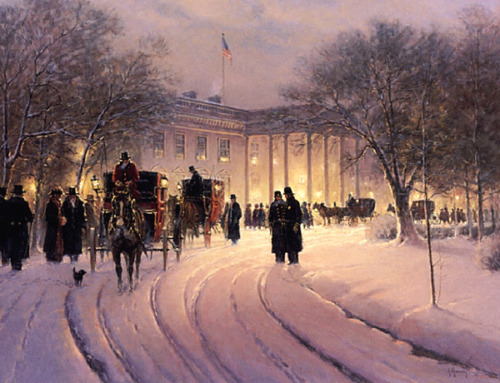 G. Harvey AN EVENING WITH THE PRESIDENT A/P White House art print MINT w/COA