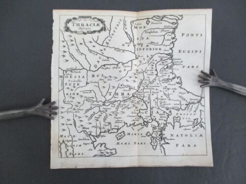 1659 Cluver Map of Thraciae (Thracia or Thrace)