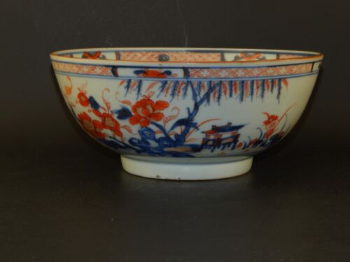 Antique Chinese Export Kangxi Imari Bowl Early 18th Century Old Label Near Mint