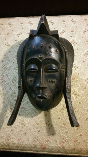 Vintage Africa Rite of Passage Mask Ivory coast of Africa baule culture