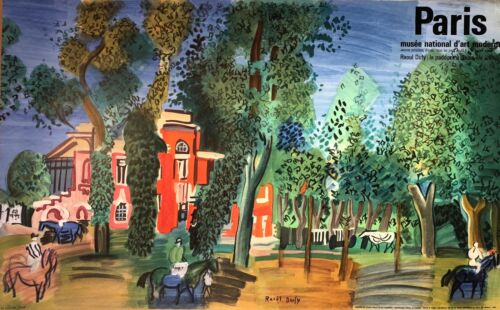 Raoul Dufy Poster: Paddock at Deauville (Ed.64)