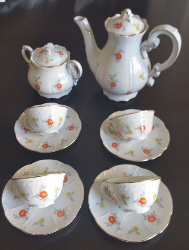 ANTIQUE Zsolnay Porcelain Tea or Coffee Set From Hungary RARE