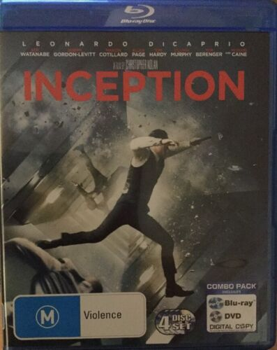 BRAND NEW & SEALED INCEPTION blu ray+dvd NEW RB