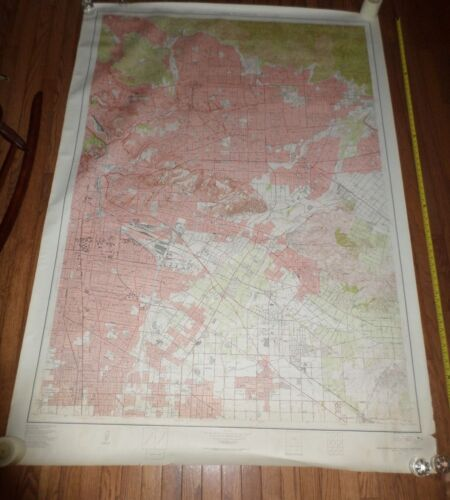 Fantastic, very large colored map of Los Angeles (1953) Scarce!