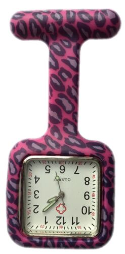 Nurses Fashion Coloured Patterned Silicone Rubber Fob Watches