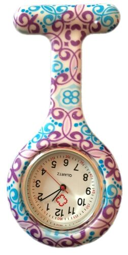 Nurses Fashion Coloured Patterned Silicone Rubber Fob Watches - Wirbel