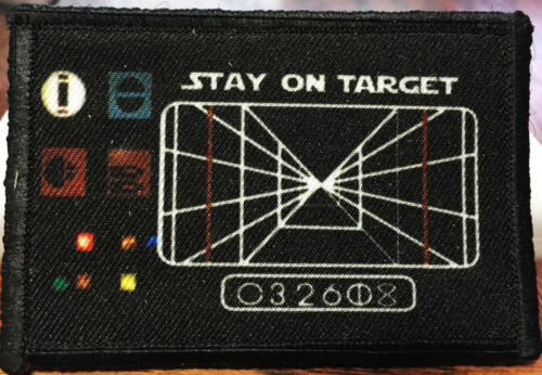 Star Wars Stay On Target Morale Patch Tactical Military Army Hook Flag USA Army - 48824