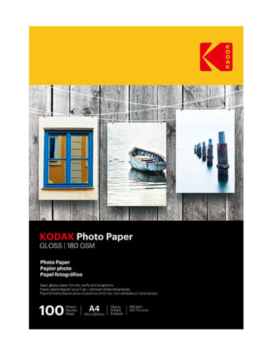 100 Sheets Kodak Gloss Instant Dry 180gsm A4 Photo Paper