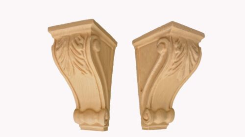 Elegant Leaf corbels   - Leaf Motif with oak grain (pair)