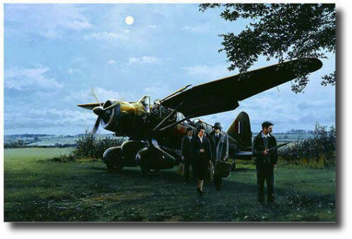 They Landed by Moonlight by Robert Taylor - Lysander - Aviation Art Print - A/P