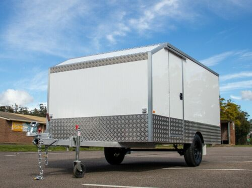 White Motorbike Work Enclosed Trailer | 4 Bike | 940kg Payload | 11.5 x 6.5 ft  <br/> Currently Stock Available And Ready!