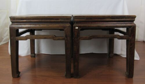 A pair of Chinese Antique Cafe Table /Stool Ming Dynasty Style