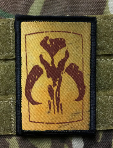Mandalorian Bounty Hunter logo Morale Patch Tactical Star Wars Military Army USAArmy - 48824
