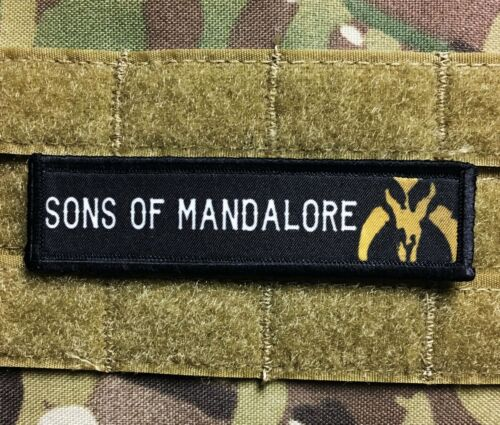 1x4 Boba Fett Sons of Mandalore Biker Patch Tactical Morale Star Wars Military Army - 48824