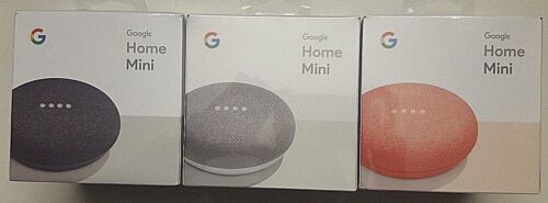 Google Home Mini Small Smart Voice Enabled Assistant Speaker - New Retail Sealed