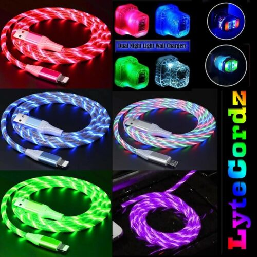 LED Light Up Charging Charger Cable USB Cord iPhone Android Micro Type C Phone
