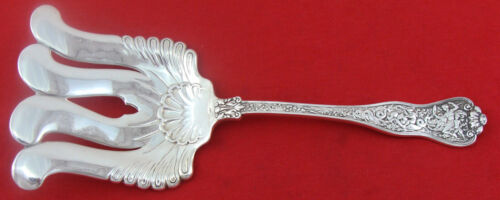 """OLYMPIAN by Tiffany & Co. Sterling Silver Asparagus Fork Wavy Tine, 9 1/2"""", NM"""