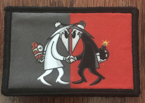 Spy Vs Spy Morale Patch Tactical Military Army Flag Badge Hook USAArmy - 48824