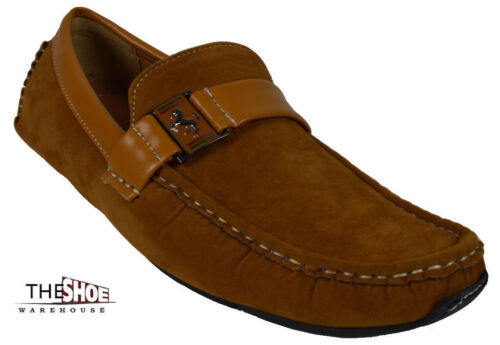 5bf427a690f Men s Giovanni Dress Shoes Driving Moccasin Wedding Casual Loafer Camel  M788-41