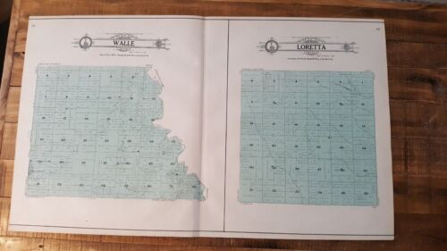Antique MAP/Walle & Loretta - Atlas Of Grand Forks Co. NDakota - Ogle & Co. 1909