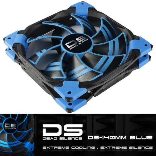 AeroCool DS-140mm BLUE Dead Silence 140mm 14cm quiet case cooling fan with LED