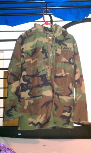 US Army Camouflage Cold Weather Field Jacket Size Small S RegularOther Militaria - 135