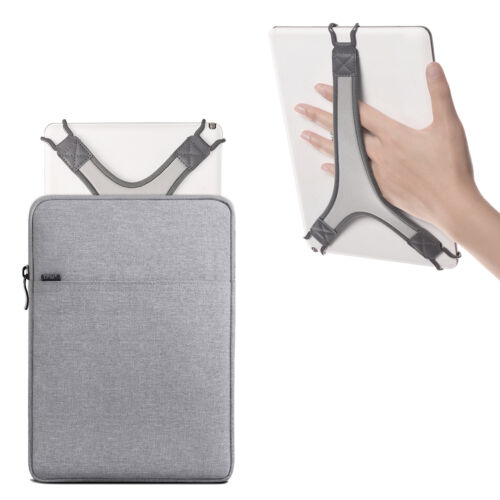 TFY Protective Pouch Bag with Zip Closure (Grey), plus Bonus Hand Strap Holder