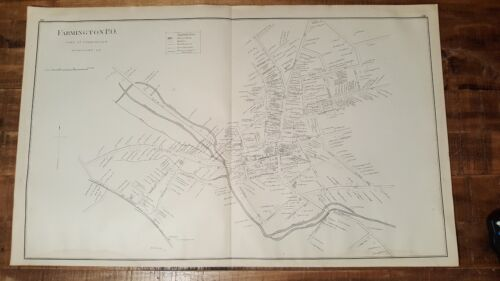 Antique MAP -PART OF ROCHESTER - STRAFFORD COUNTY N.HAMPSHIRE - 1892 ATLAS