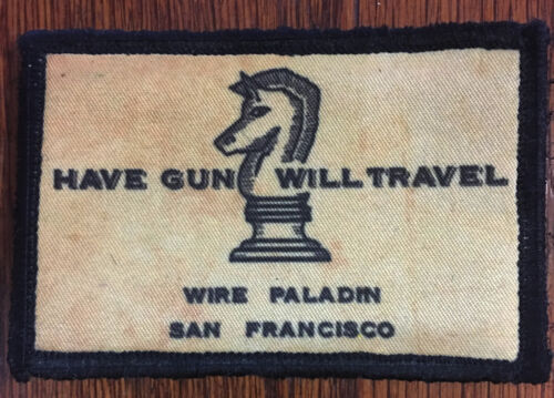 Paladin Have Gun Will Travel Morale Patch Tactical ARMY Hook Military USA FlagArmy - 48824