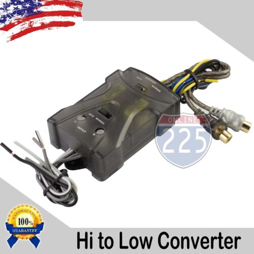 Adjustable High to Low 2-Channel Line Output Converter w Auto Remote Amp Turn On