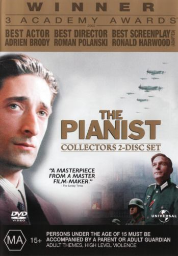 The Pianist DVD TOP 250 MOVIES BEST PICTURE BIOGRAPHY DRAMA 2-DISCS BRAND NEW R4