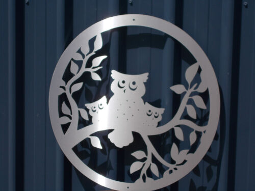 """Wall Art """"Owls"""" Stainless Steel"""