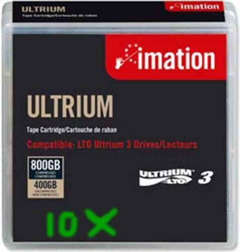 LOT OF 10 PCS of  Imation LTO-3 Data Cartridge Tape  400/800GB LT Pre Owned