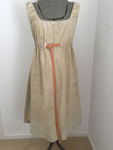 Eureka Ladies Suede Leather Sand Tunic Dress