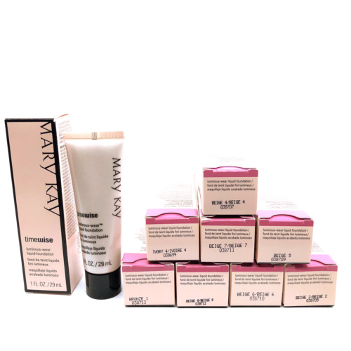 Mary Kay TimeWise Luminous Wear Liquid Fundation IVORY-BEIGE-BRONZE you choose