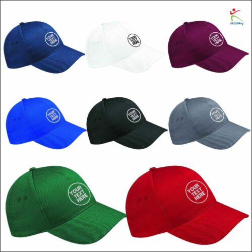 Personalised Embroidered Hat Custom Any Text Logo Baseball Cap Workwear Gift LOT
