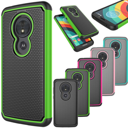 For Motorola Moto G6 Play/G6 Forge/ XT1922 Hybrid Dual Layer Rubber Phone Case