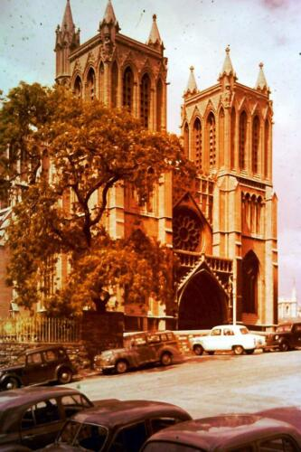 35mm Colour Slide-  Bristol Cathredral West Front ,Engand 1960's