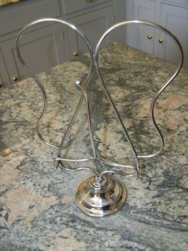 ART DECO SILVER ENGLISH MUSIC STAND GRAND PIANO MENU STAND our FineThings4sale