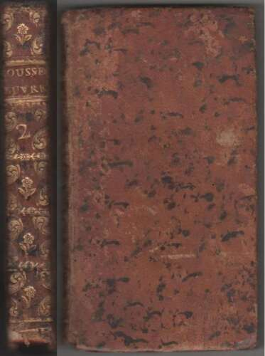 Rousseau OEUVRES CHOISIES Tome Second Epitres Allegories Epigrammes Geneve 1777