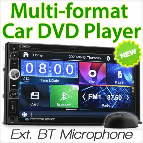 "7"" Car MP3 DVD Player Double DIN 2 Head Unit Stereo Radio In Dash CD 1080p MP4"