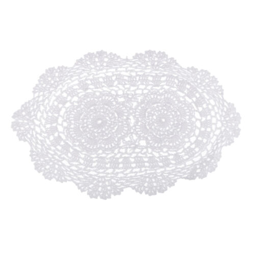 Hand Crochet Oval Table Cover Lace Table Covering Doilies for Furniture Deco