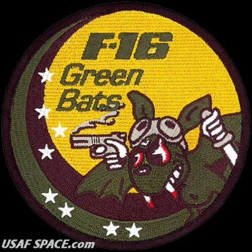 USAF 422d TEST & EVALUATION SQ -F-16 GREEN BATS- Nellis AFB, NV - ORIGINAL PATCHAir Force - 48823