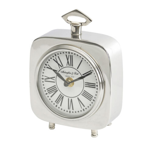 Libra - Austin Square Silver Nickel Carriage Clock