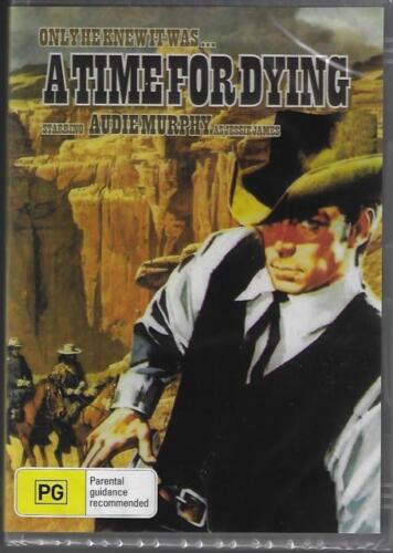 A Time For Dying DVD Audie Murphy New and Sealed Australia All Regions